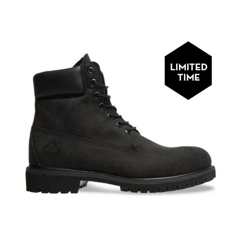 BLACK NUBUCK - MEN'S 6-INCH PREMIUM WATERPROOF BOOT 6 Inch Boots Shoes by Timberland