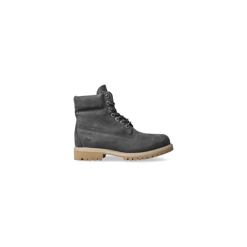 Dark Grey Nubuck - Men's 6-Inch Premium Waterproof Boot 6 Inch Boots Shoes by Timberland