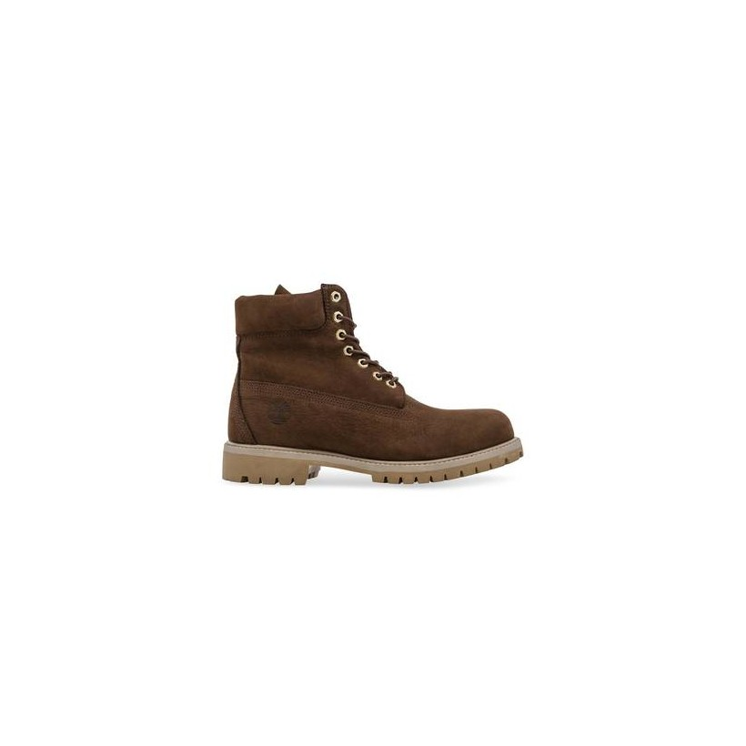 Dark Brown Nubuck - Men's 6-Inch Premium Waterproof Boot 6 Inch Boots Shoes by Timberland
