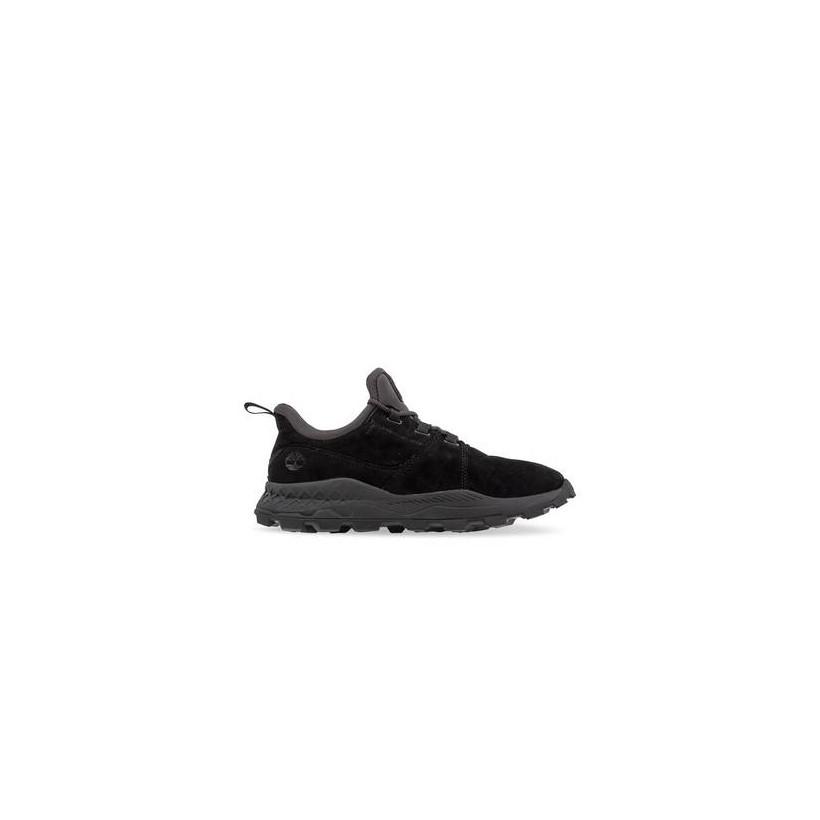 Black Suede - Men's Brooklyn Perforated Sneakers Footwear Shoes by Timberland