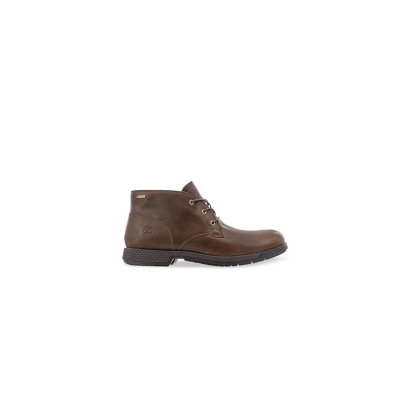 Dk Brown Full Grain - Men's City's Edge Waterproof Chukka Boots Footwear Shoes by Timberland
