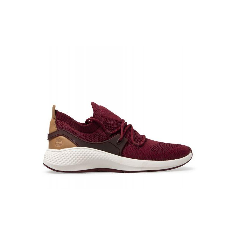 Burgundy Knit - Men's Flyroam Go Knit Sneakers Mens Sneakers Shoes by Timberland