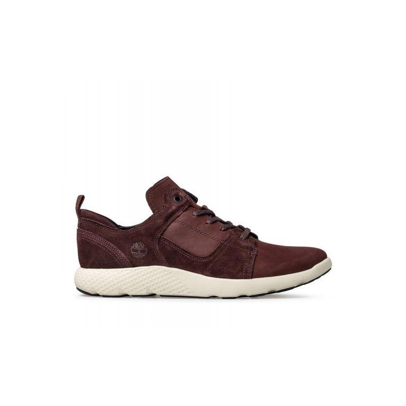 Burgundy Nubuck - Men's Flyroam Oxford Shoe Mens Sneakers Shoes by Timberland