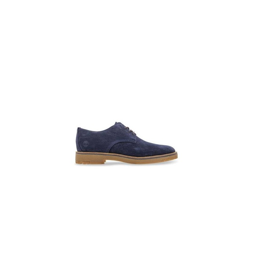 Dark Blue Suede - Men's Folk Gentleman Oxford Footwear Shoes by Timberland