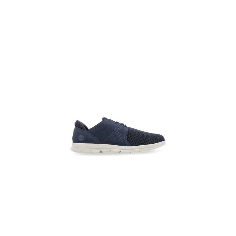 Navy Nubuck - Men's Graydon Leather Oxford Footwear Shoes by Timberland