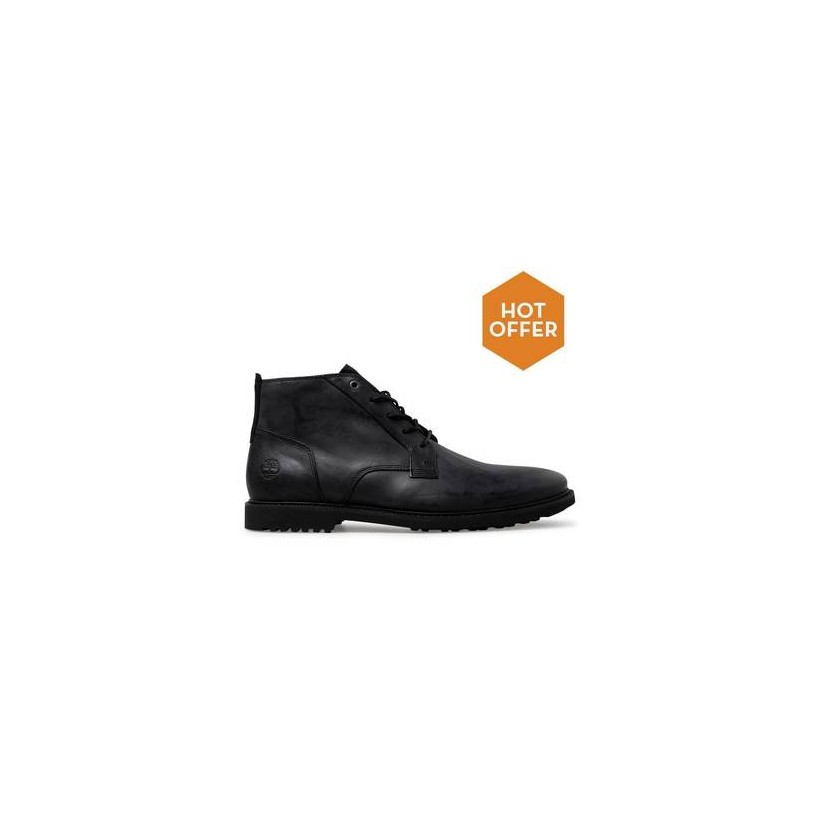 Jet Black Cow Dandy - Men's Lafayette Park Chukka Boots Mens Shoes by Timberland
