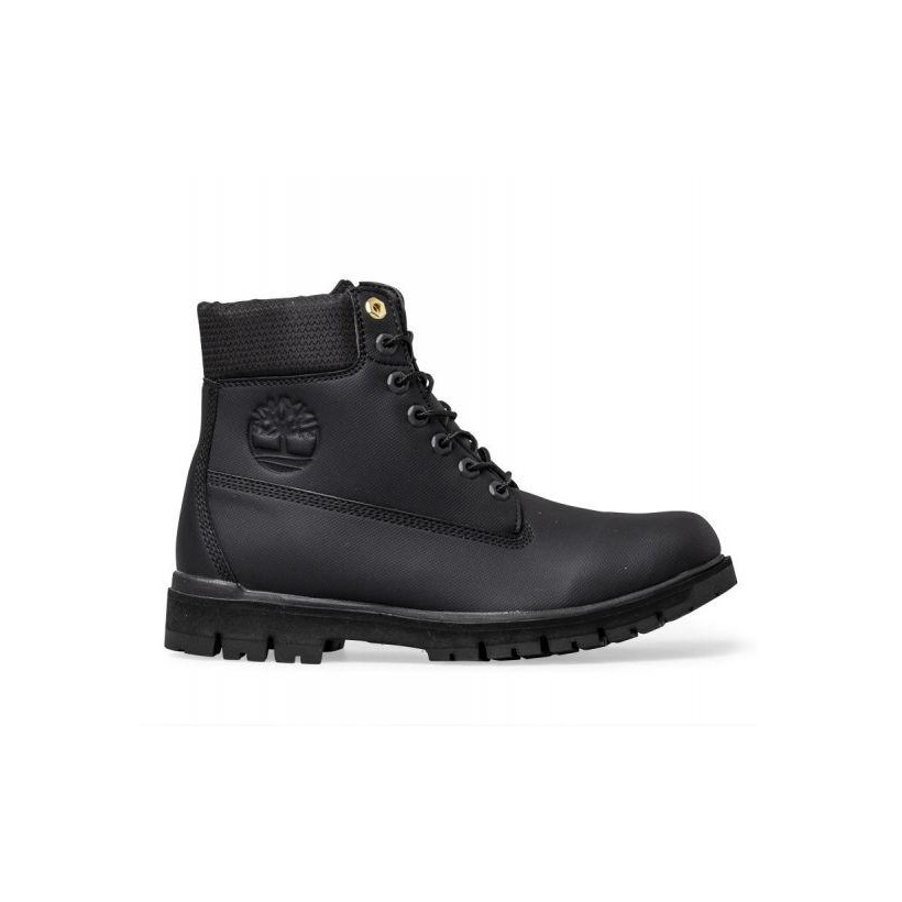 Black - Men's Radford Rubberized 6-Inch Boot Mens Boots Shoes by Timberland