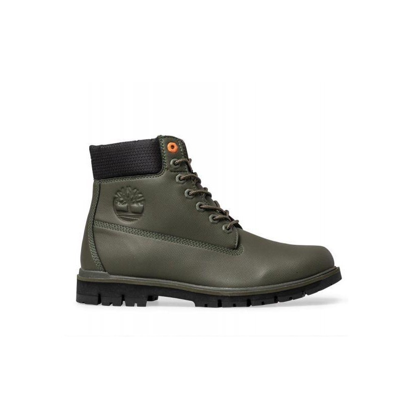 Dark Green - Men's Radford Rubberized 6-Inch Boot Mens Boots Shoes by Timberland