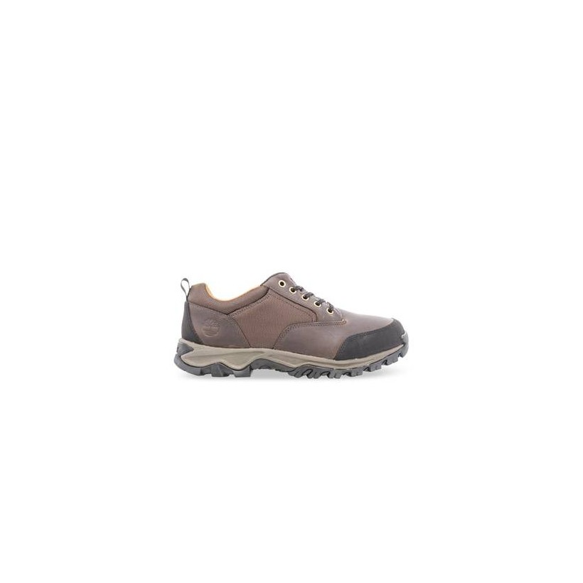 Dk Brown - Men's Rangeley Leather Fabric Low Hiking Boots Footwear Shoes by Timberland