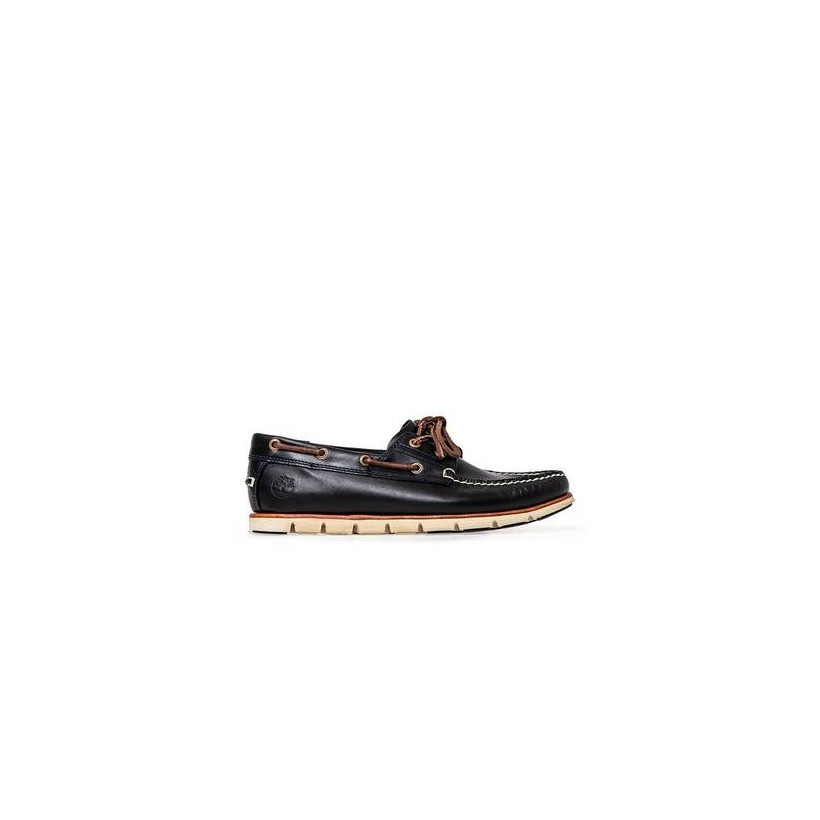 Dark Indigo Brando - Men's Tidelands 2-Eye Leather Boat Shoe Footwear Shoes by Timberland