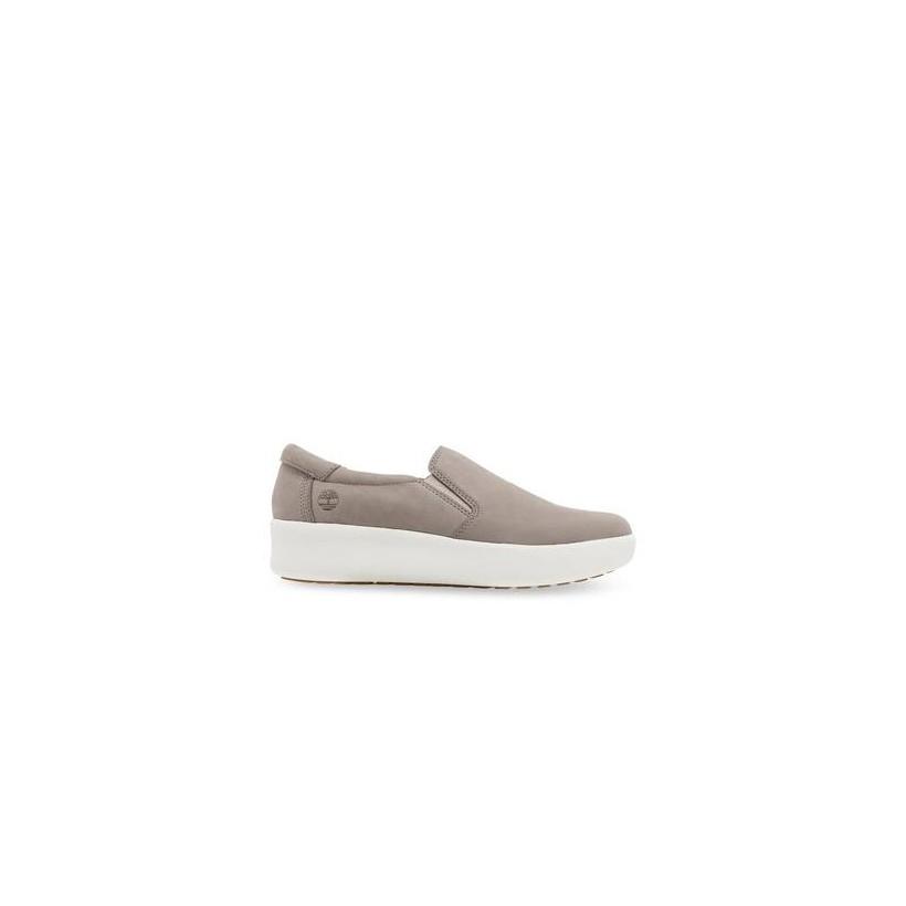 Light Beige Nubuck - Women's Berlin Park Slip On Footwear Shoes by Timberland