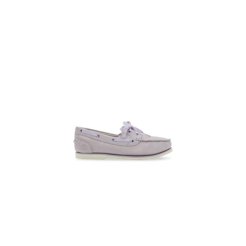 Light Purple Nubuck - Women's Classic Unlined Boat Shoes Footwear Shoes by Timberland
