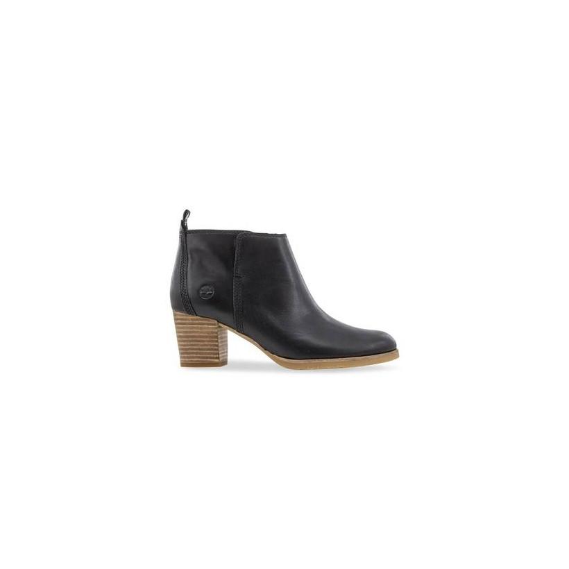 Black Full Grain - Women's Eleonor Street Ankle Boots Footwear Shoes by Timberland