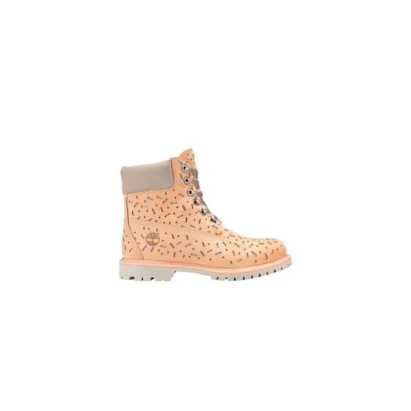 Light Beige Nubuck - Women's Ice Cream 6-Inch Premium Waterproof Boot 6 Inch Boots Shoes by Timberland