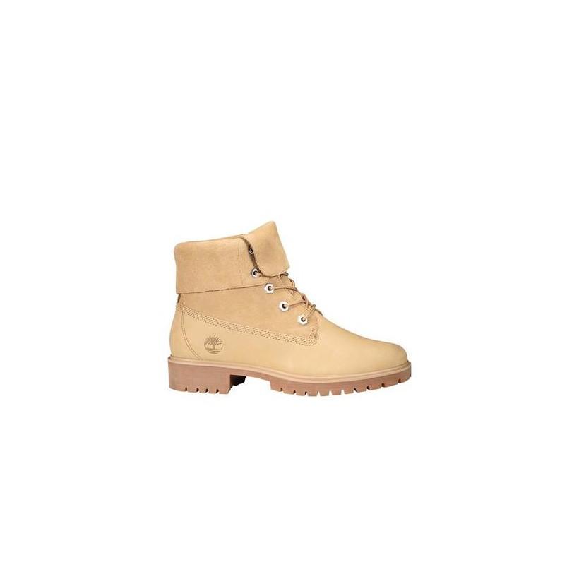 Medium Beige Nubuck - Women's Jayne Suede Fold-Down Boots Footwear Shoes by Timberland