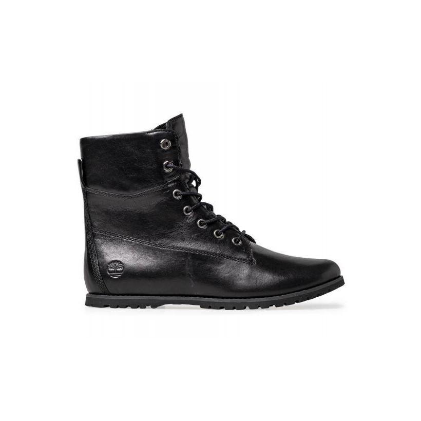 Black Full-Grain - Women's Joslin Mid Lace Boot Womena Footwear Shoes by Timberland