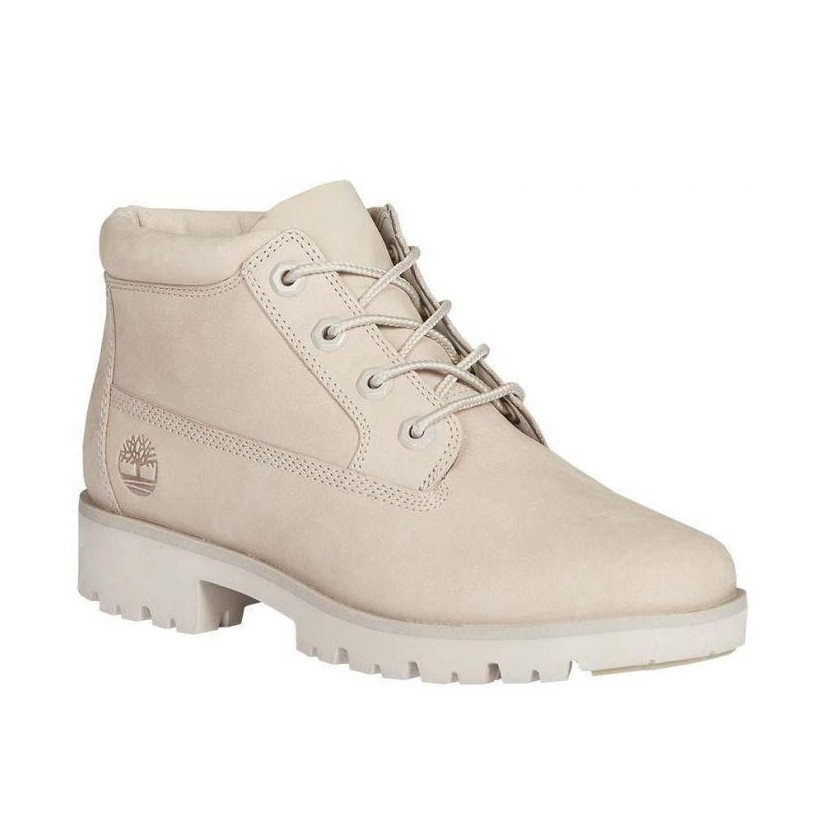 LIGHT TAUPE NUBUCK - WOMEN'S NELLIE CHUKKA BOOT 6 Inch Boots Shoes by Timberland