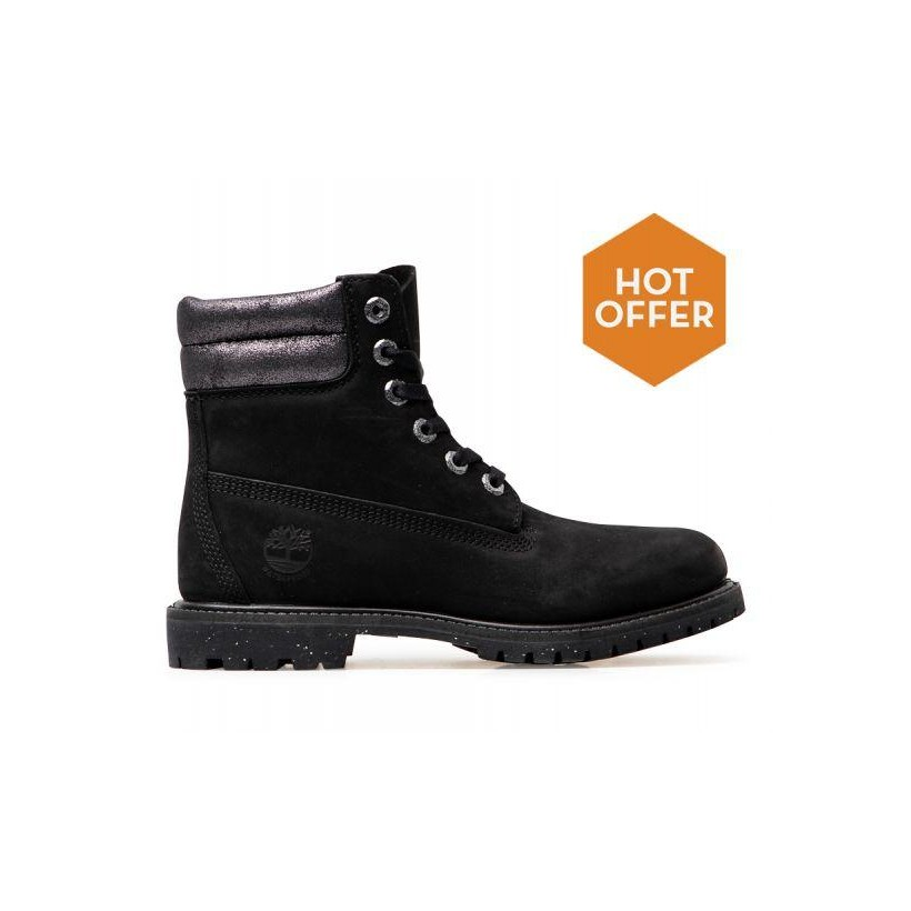 001 Black Waterbk w/ Silver Metlic - Women's Waterville 6-Inch Boot Womena Footwear Shoes by Timberland