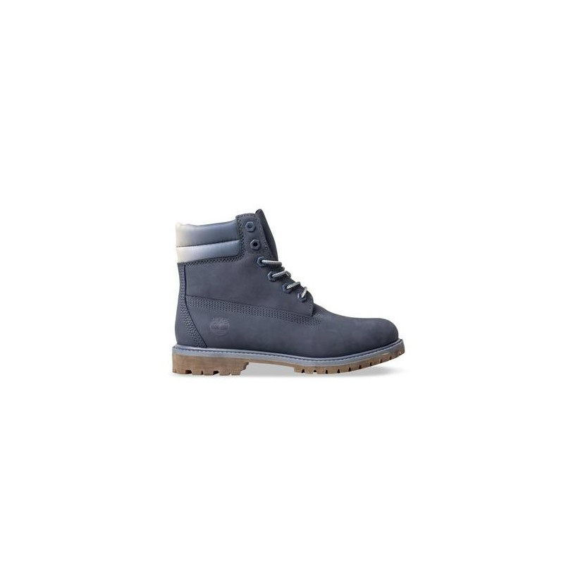 Dark Blue Nubuck - Women's Waterville 6-Inch Double Collar Boot Womens Boots Shoes by Timberland