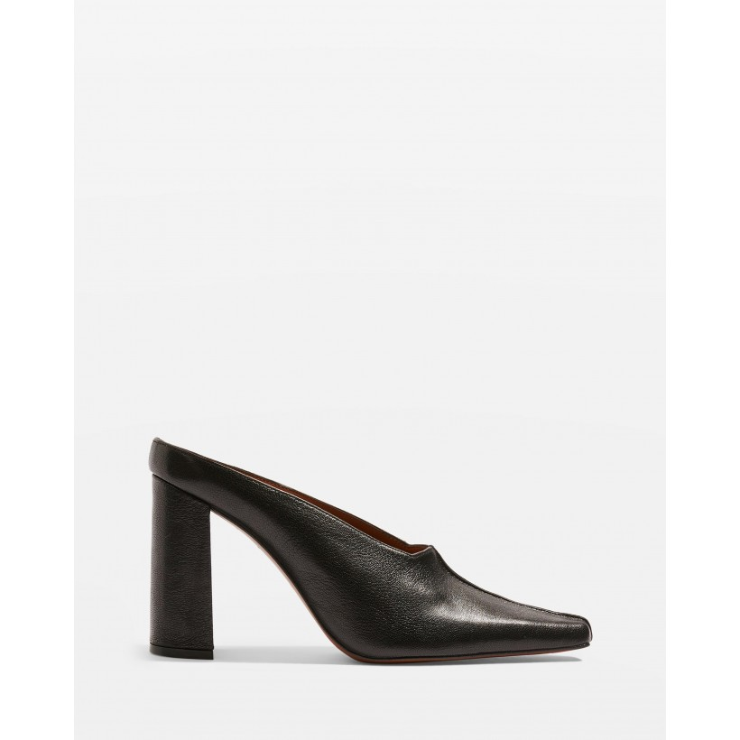 Geraldine Block Mules Black by Topshop