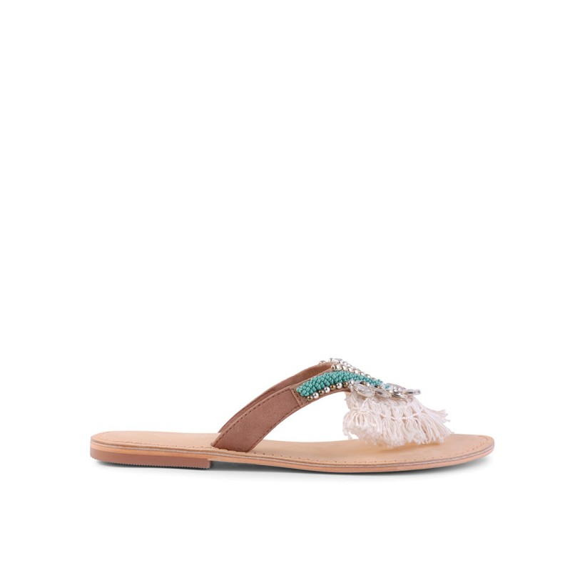 Tristen - Tan Suede by Siren Shoes
