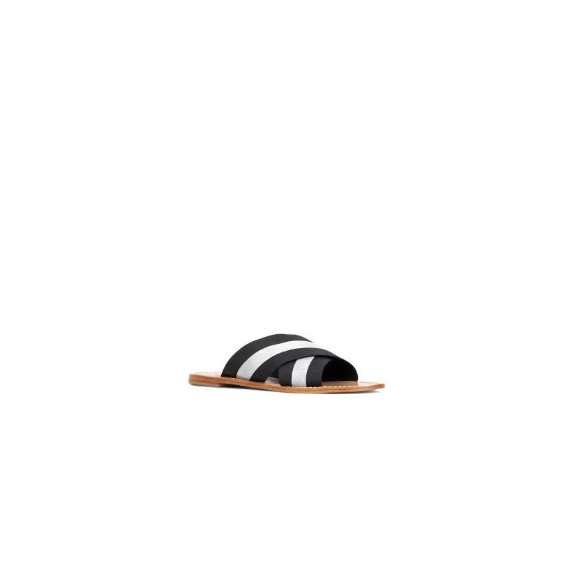 Tropez - Black/White by Siren Shoes