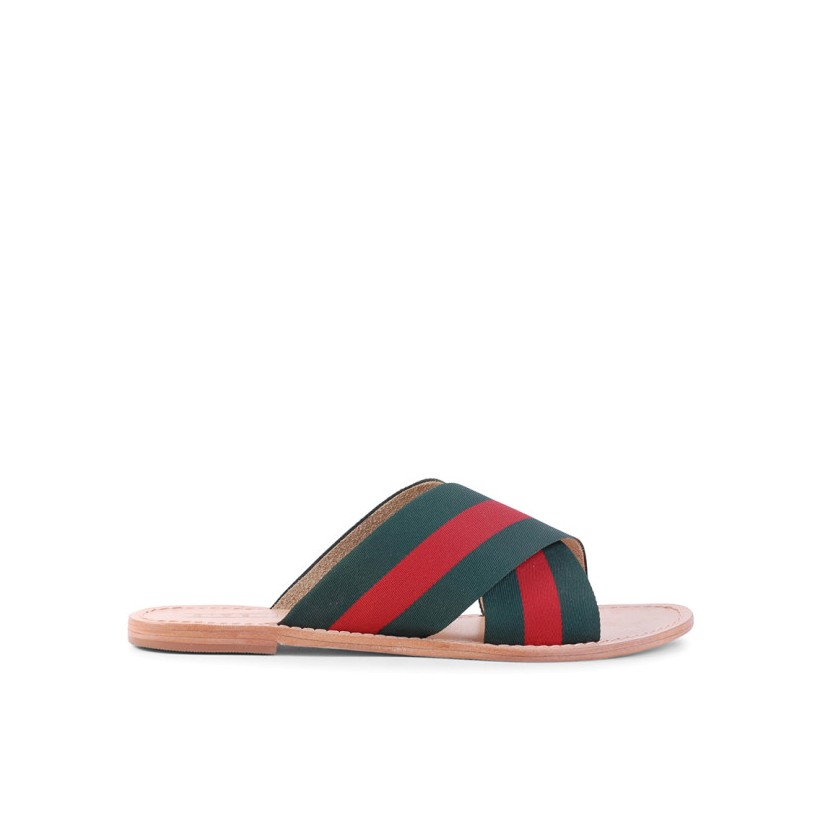 Tropez - Green/Red by Siren Shoes