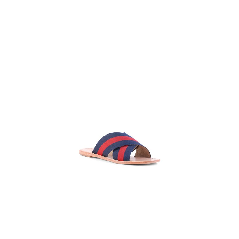 Tropez - Navy/Red by Siren Shoes