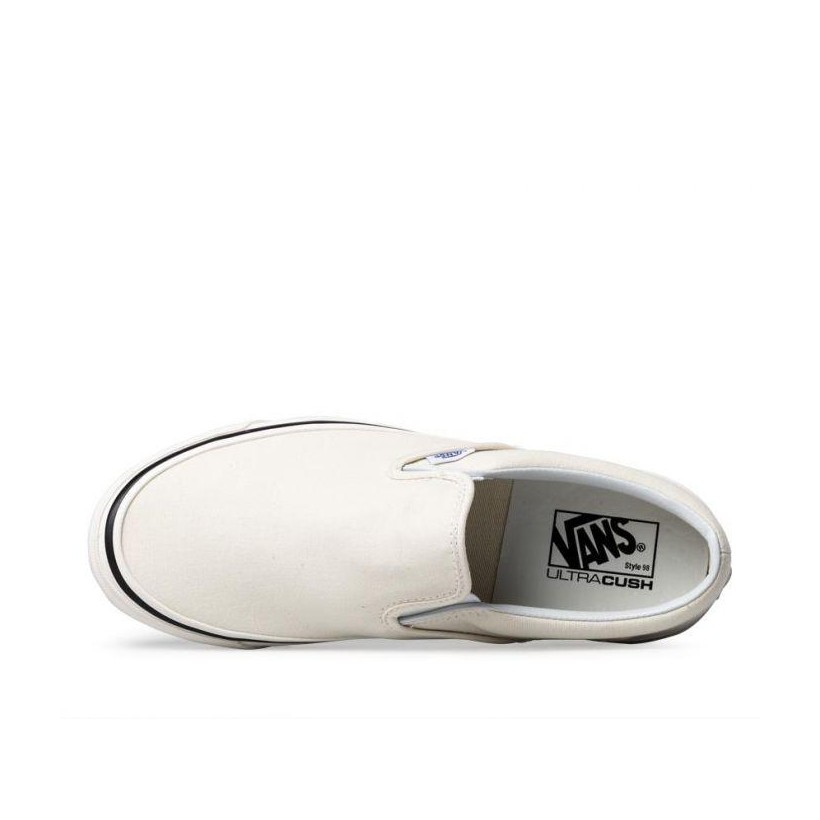 (Anaheim Factory) Og White/White - Anaheim Factory Classic Slip-On 98 Sale Shoes by Vans