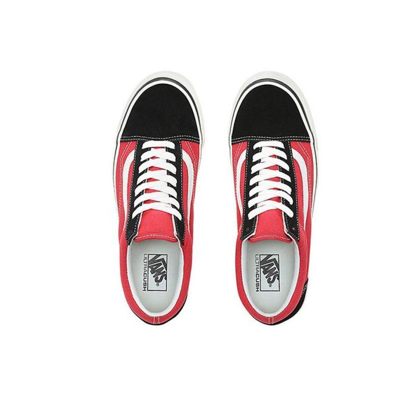 (Anaheim Factory) Og Black/Og Red - Anaheim Factory Old Skool 36 DX Black/Red Sale Shoes by Vans