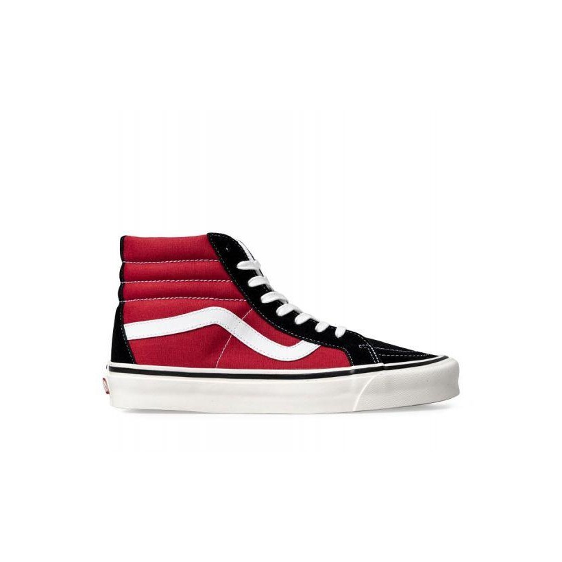 (Anaheim Factory) Og Black/Og Red - Anaheim Factory SK8-Hi 38 DX Sale Shoes by Vans
