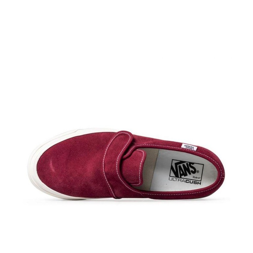 (Anaheim Factory) OG Brick/Suede - Anaheim Factory Slip On 47 DX Sale Shoes by Vans