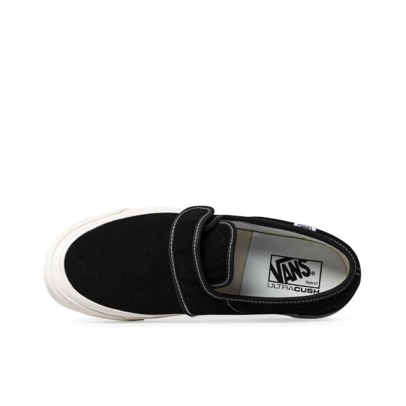 (Anaheim Factory) OG Black/Suede - Anaheim Factory Slip On 47 DX Sale Shoes by Vans