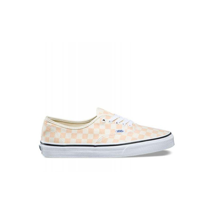 (Checkerboard) Apricot Ice/Classic White - Authentic Checkerboard Sale Shoes by Vans