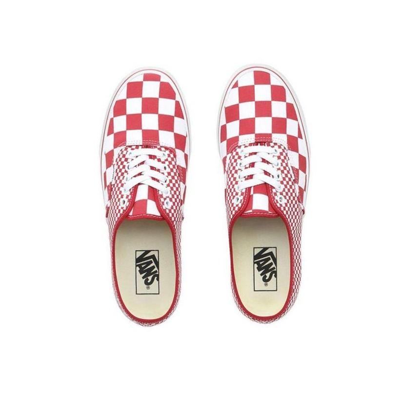 (Mix Checker) Chili Pepper/True White - Authentic Mix Checker Chilli Pepper/True White Sale Shoes by Vans