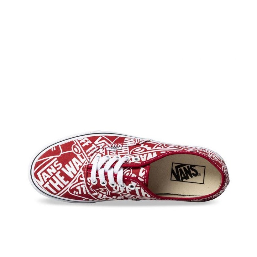 (Otw Repeat) Red/True White - Authentic Off The Wall Repeat Sale Shoes by Vans