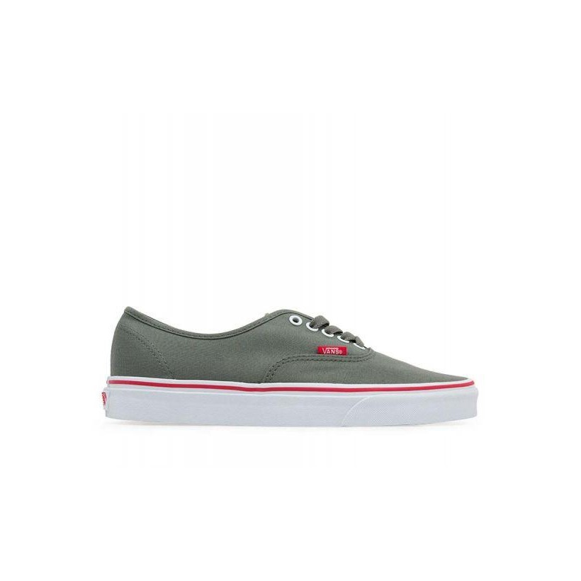 (Pop) Caster Gray/Racing Red - Authentic Pop Castor Grey/Red Sale Shoes by Vans