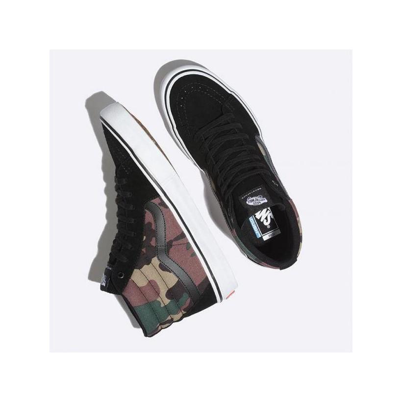 (Camo) Black/White - Camo Sk8-Hi Pro Sale Shoes by Vans