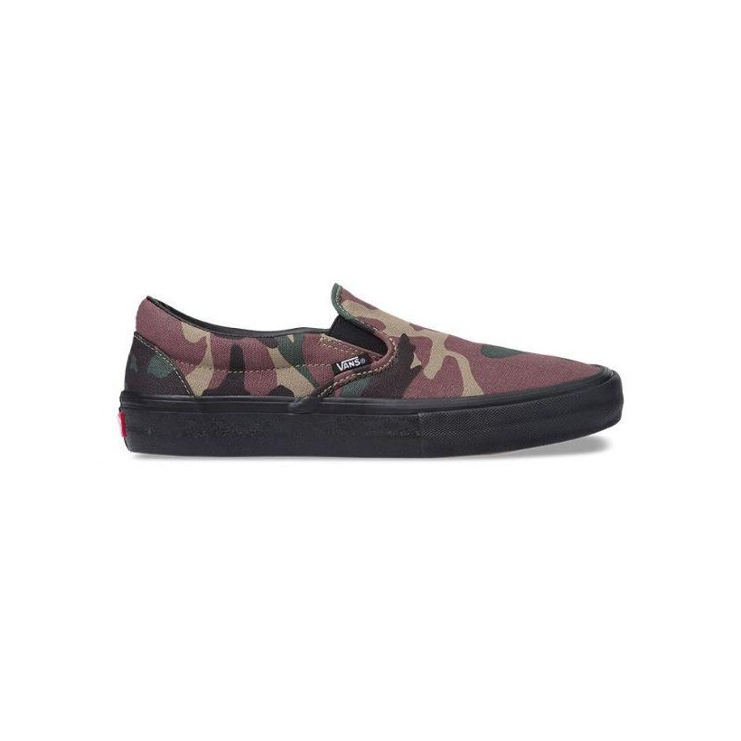 (Camo) Black - Camo Slip On Pro Sale Shoes by Vans