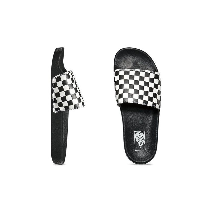 (Checkerboard)White - Checkerboard Slide Sale Shoes by Vans