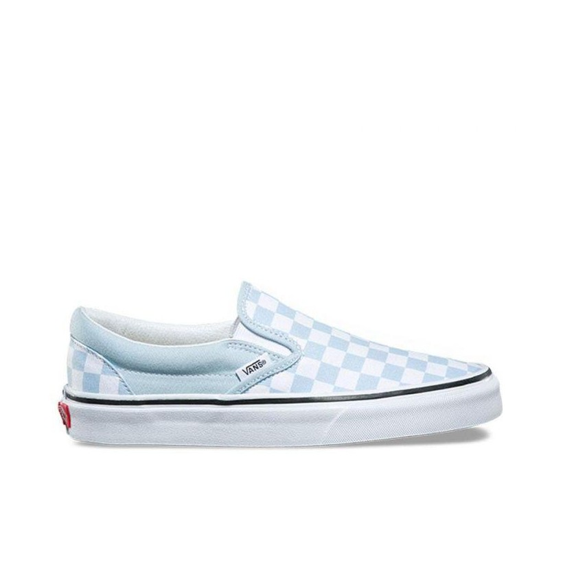 c5d60cfc9c Checkerboard) Baby Blue True White - Classic Slip On Sale by Vans ...