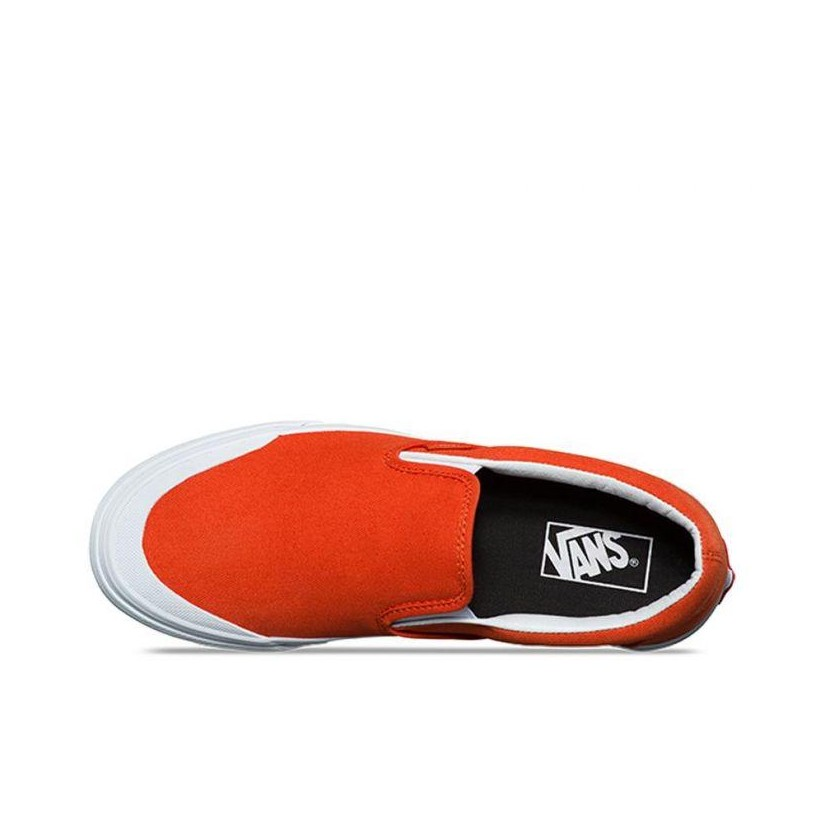 (Canvas) Pureed Pumpkin - Classic Slip-On 138 Sale Shoes by Vans