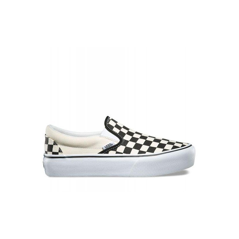 Black and White Checker/White - Classic Slip-On Checkerboard Platform Sale  Shoes by Vans