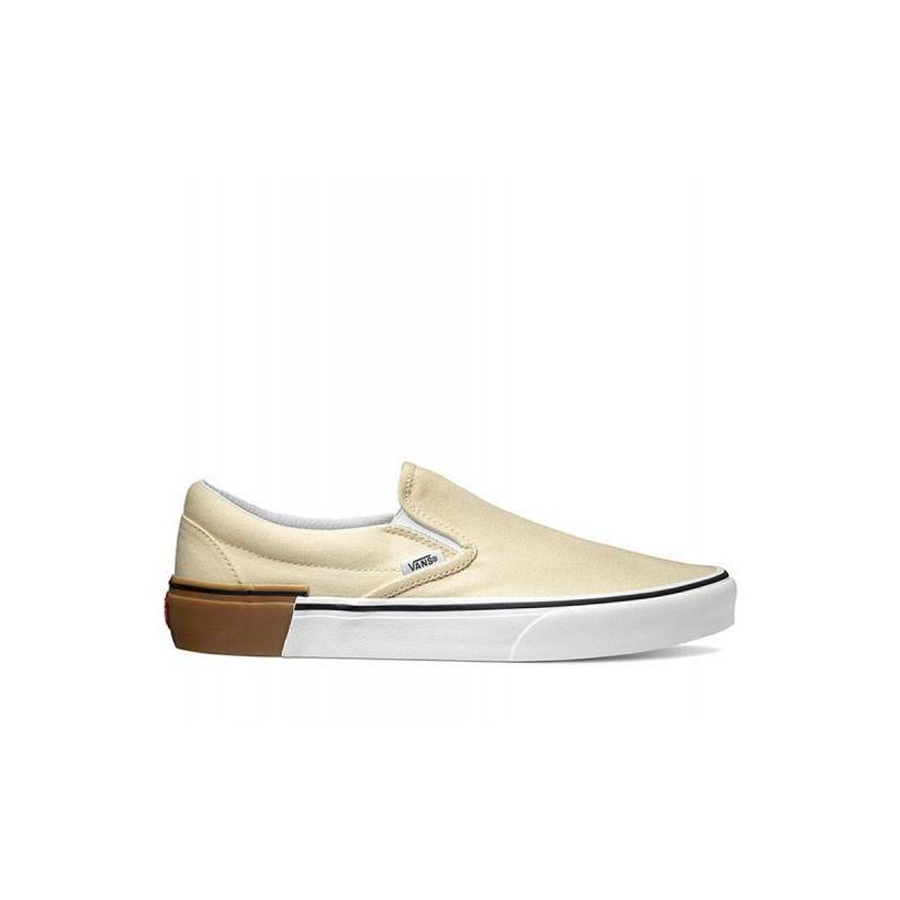 (Gum Block) Classic White - Classic Slip On Gum Block Sale Shoes by Vans