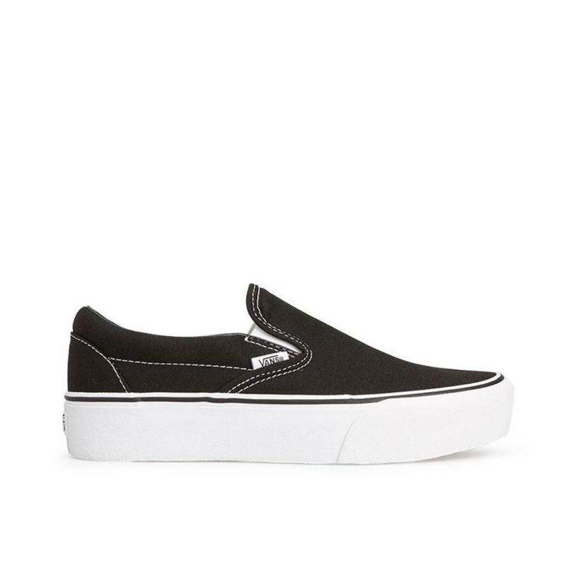 6e58378788f Black - Classic Slip-On Platform Sale by Vans