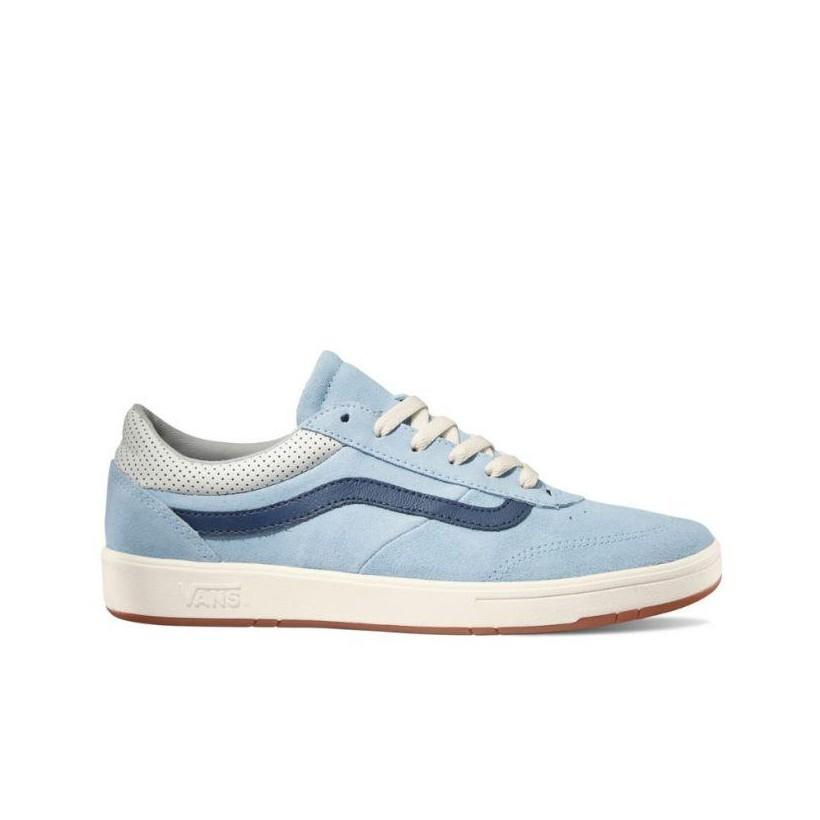 (Suede) Cool Blue/Dress Blues - Comfycush Cruze Cool Blue/White Sale Shoes by Vans