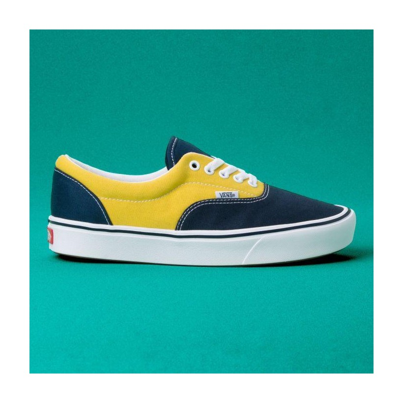 (Sport) Dress Blues/Sulphur/Gibraltar Sea - COMFYCUSH ERA SPORT DRESS BLUE Sale Shoes by Vans