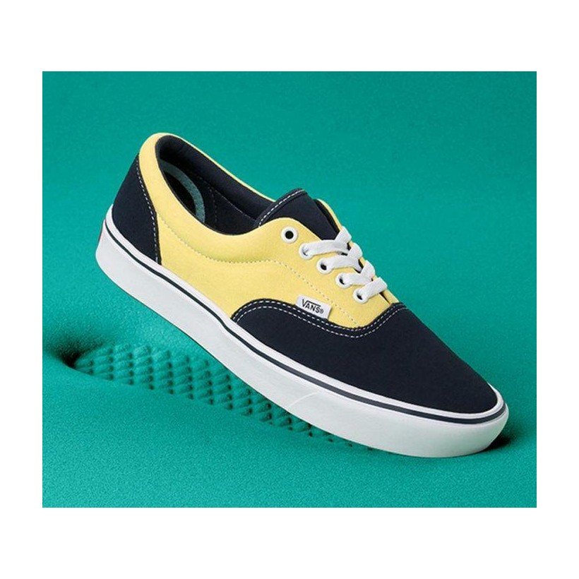 (Suede/Canvas) Dress Blues/Aspen Gold - ComfyCush Era Sale Shoes by Vans