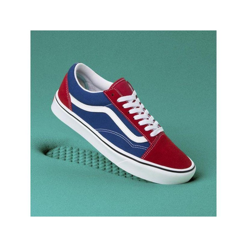 (Two-Tone) Chili Pepper/True Blue - COMFYCUSH OLD SKOOL CHILI Sale Shoes by Vans
