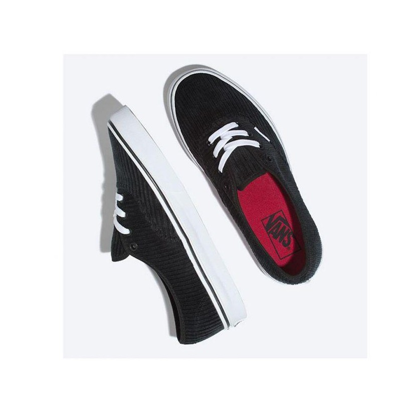 (Design Assembly) Black/True White - Corduroy Authentic Design Assembly Sale Shoes by Vans